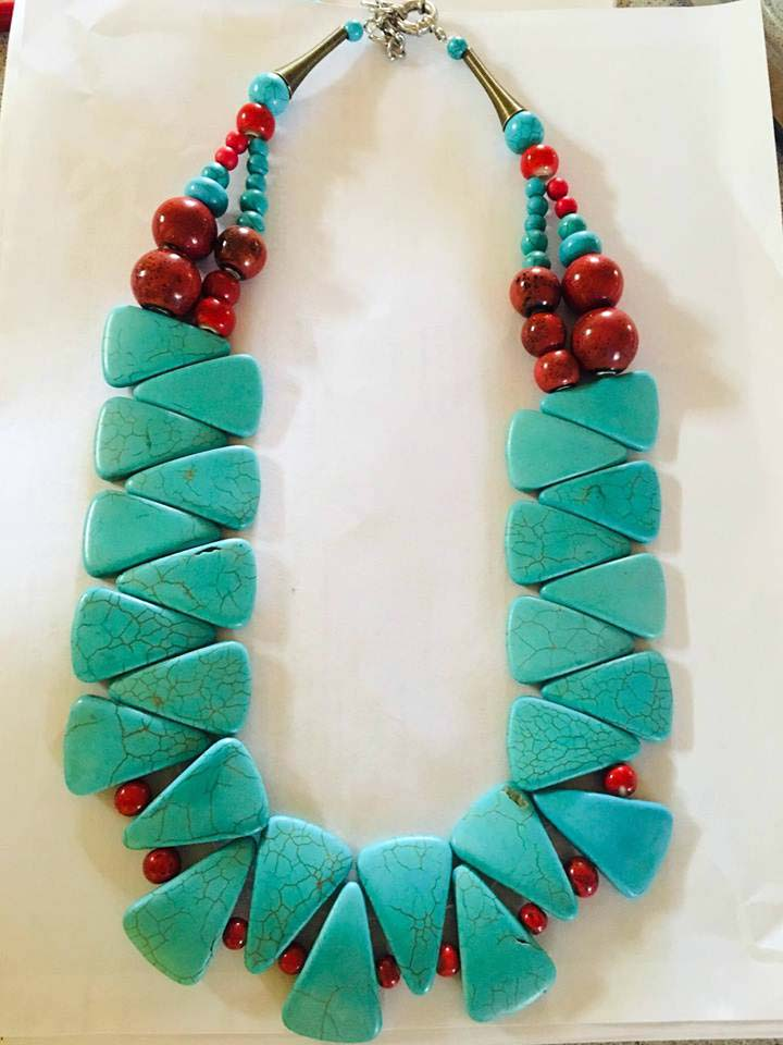 Althea's turquoise necklace