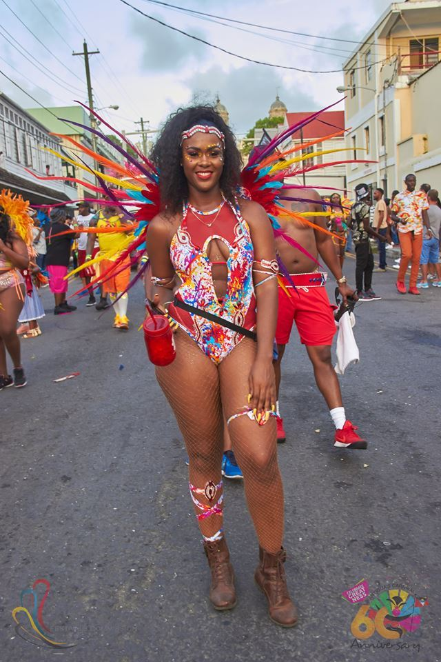 Antigua Carnival red one piece