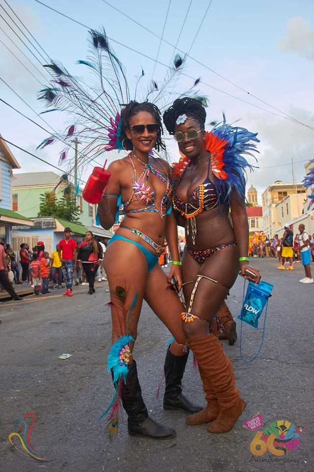 Antigua Carnival two beauties posing