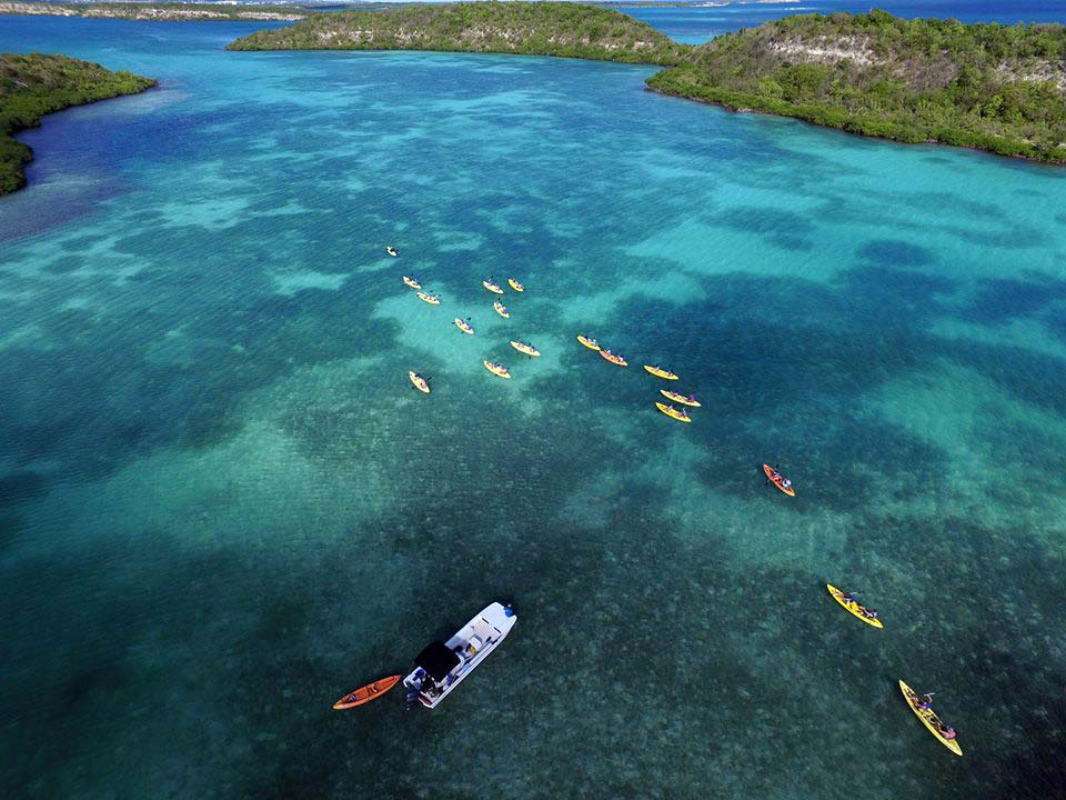 Antigua Paddles aerial shot