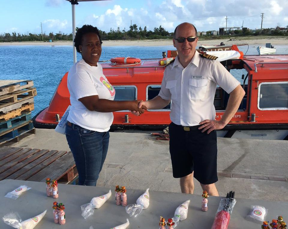 Barbuda Officials greeted cruise executives from Wind Surf