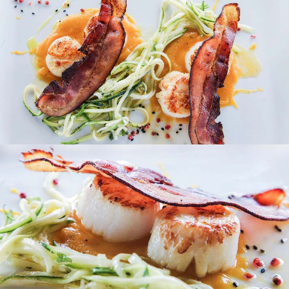 Basilico scallops and bacon