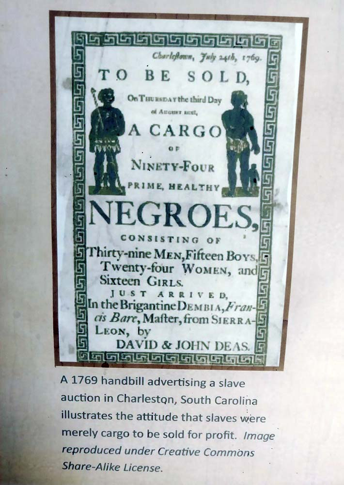 Betty's Hope 1769 slave auction handbill