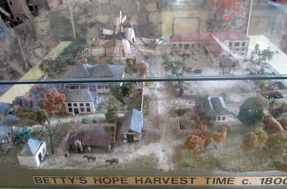 Betty's Hope visitors centre model
