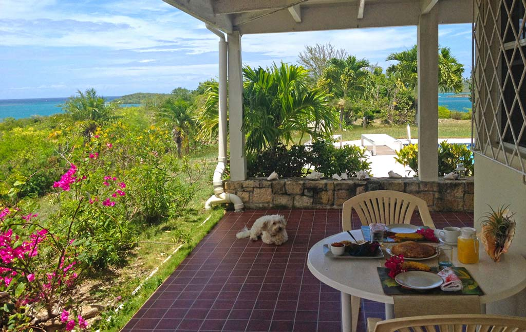 Blue Bay porch with view