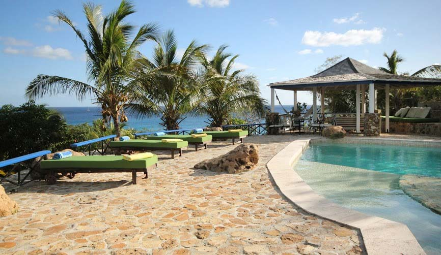 Carib House poolside