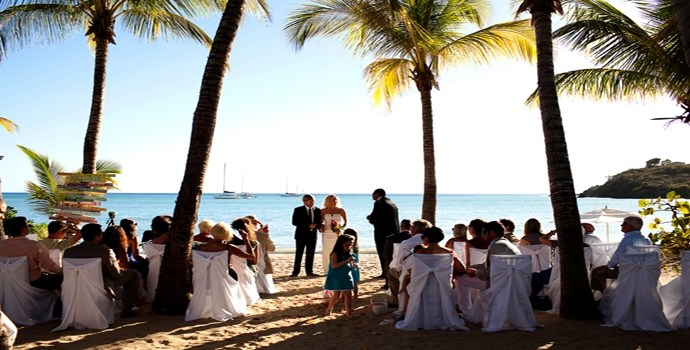Carlisle Bay wedding on the beach