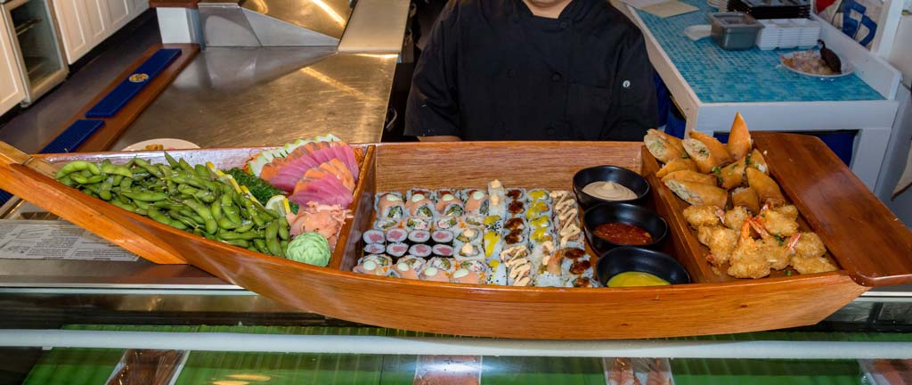 Club Sushi boat wide shot