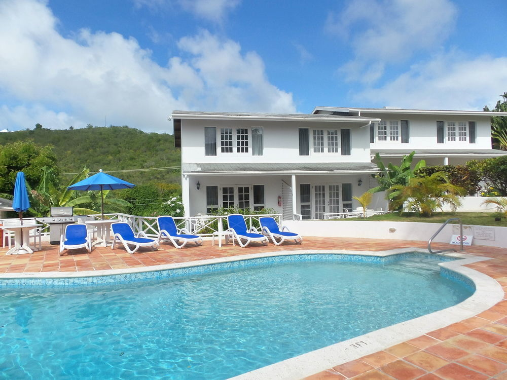 Dickenson Bay Cottages poolside