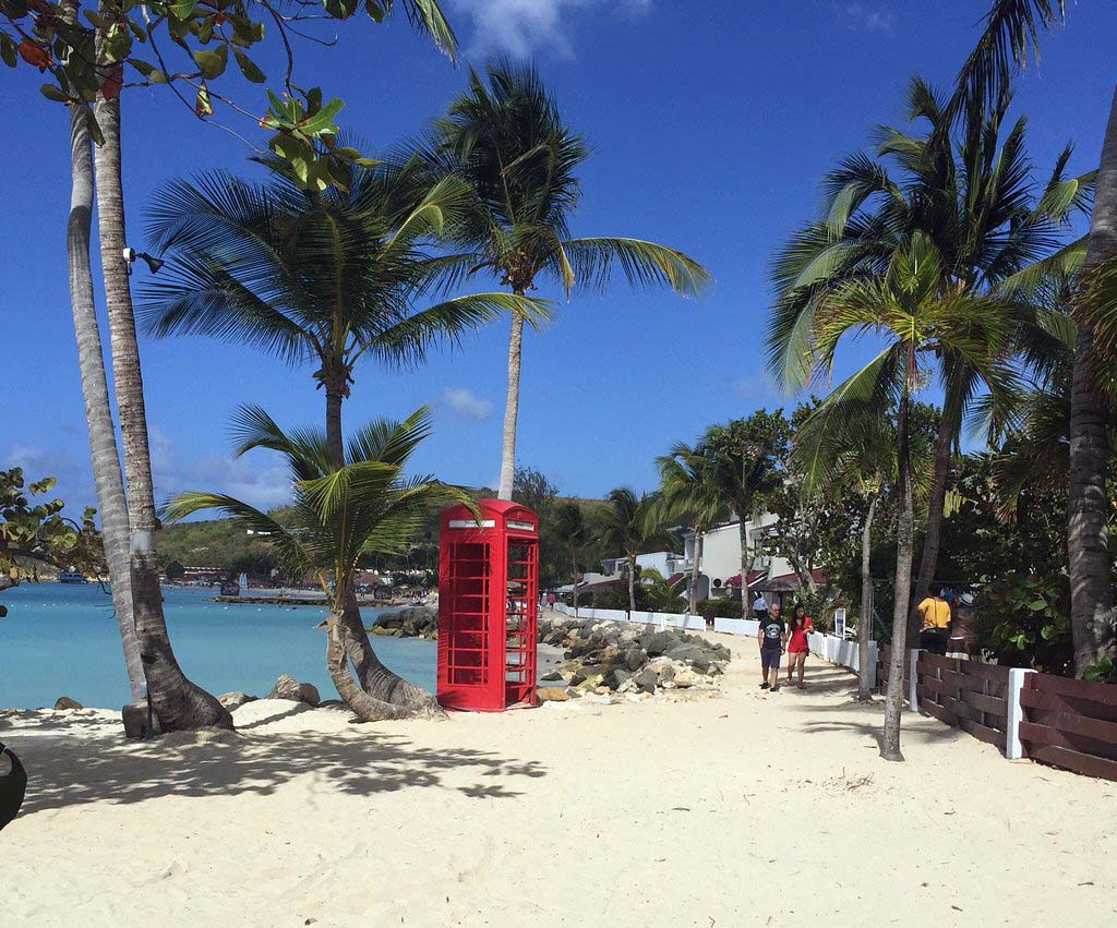 Dickenson Bay the Siboney phone booth