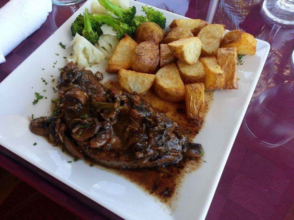 Island Fusion steak and potatoes