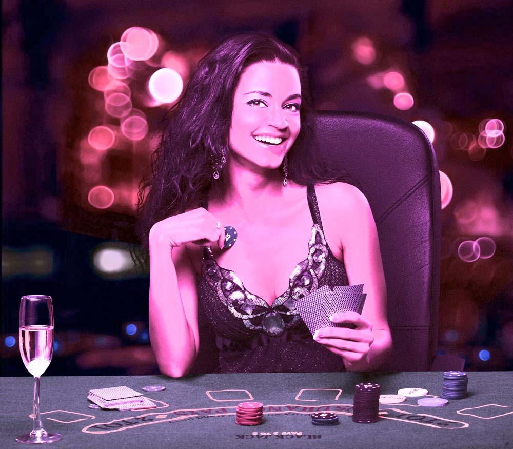 King's Casino woman at card table