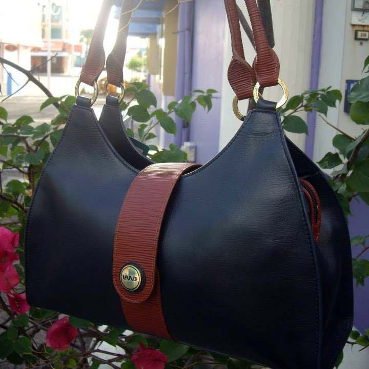 Land Leather black bag with brown accent