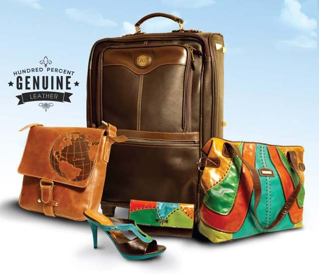 Land Leather selection of bags and shoe