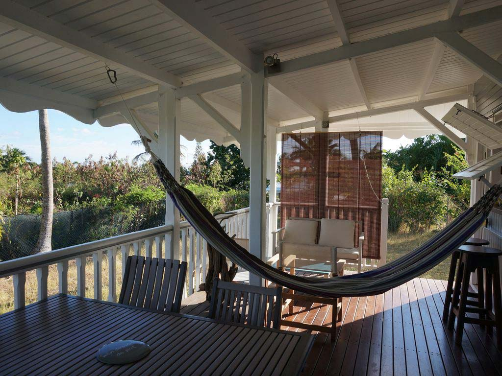 Le Jardin Creole deck with hammock