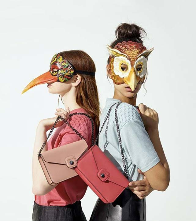 Longchamp bags with masks