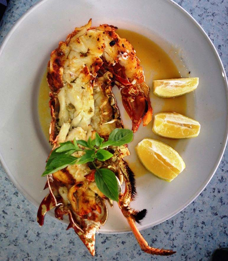 Millers by the Sea grilled lobster