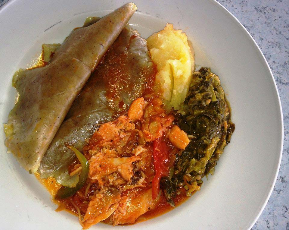 Millers by the Sea local saltfish and ducana