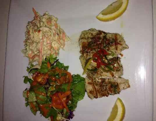 Miracles grilled fish and sides