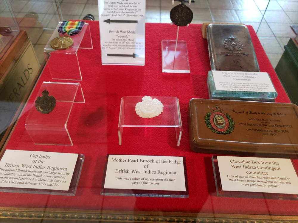Museum of Antigua Barbuda medals and badges