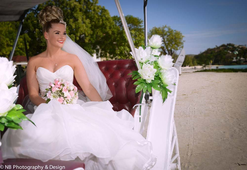 NB Photography bride in carriage