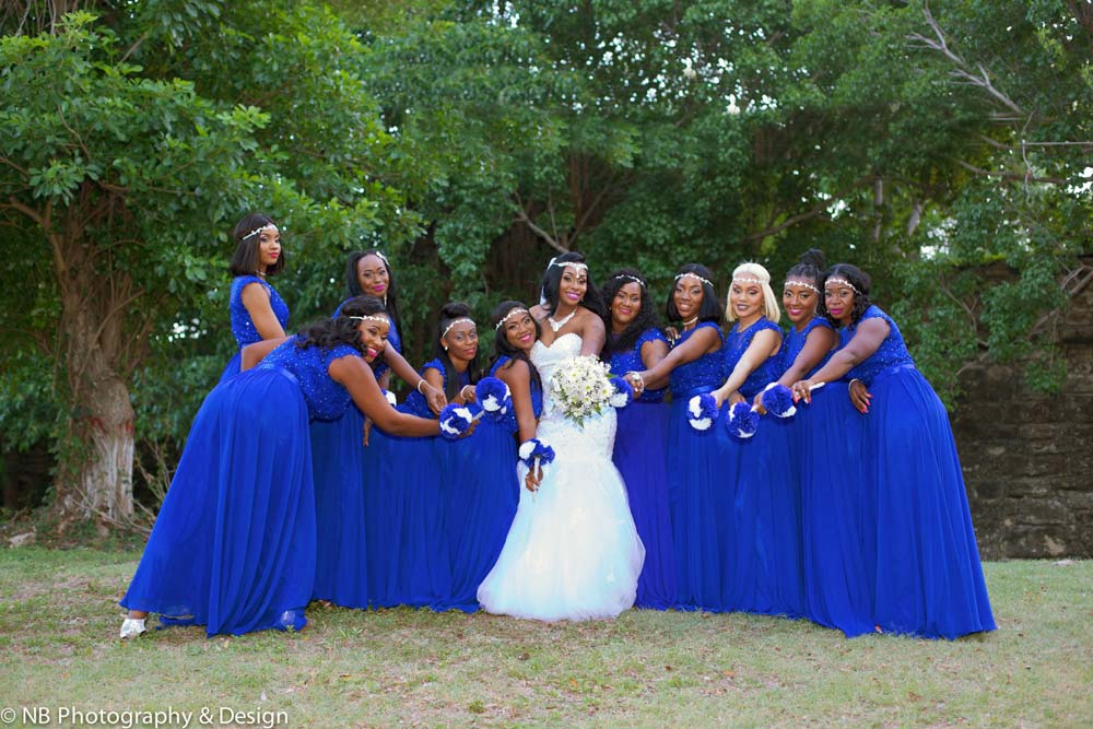 NB Photography bridesmaids in blue