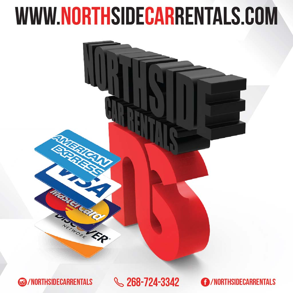 North Side Car Rentals we accept credit cards