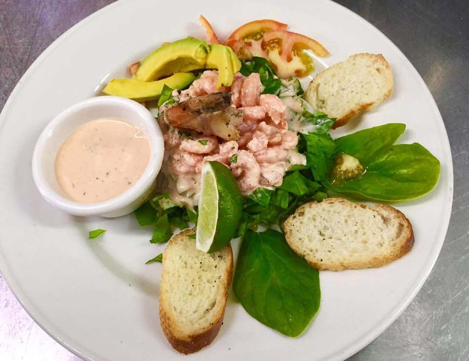 Papas By The Sea shrimp salad