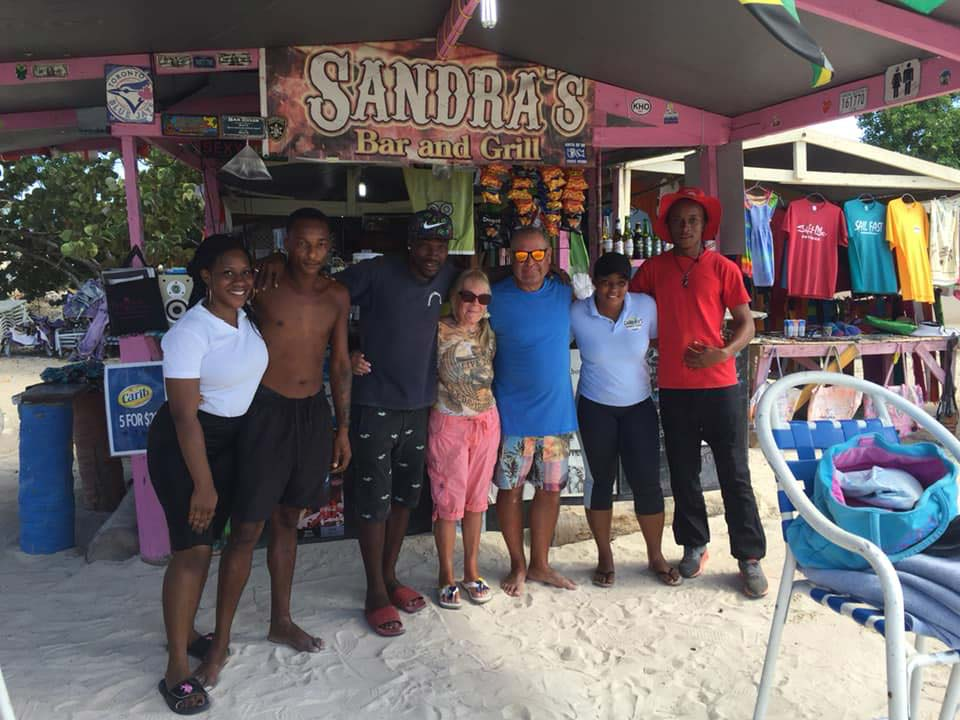 Sandra's beach bar visitors