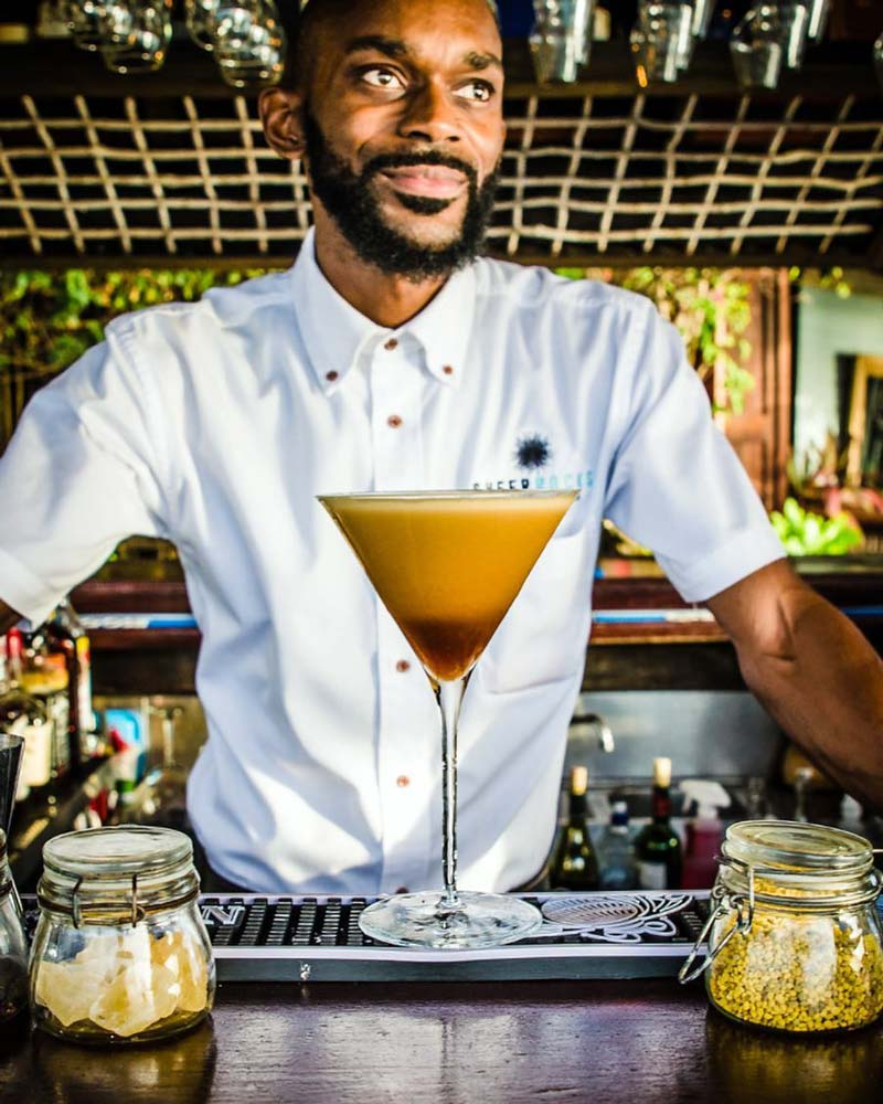 Sheer Rocks Seon shaking up the perfect Espresso Martini