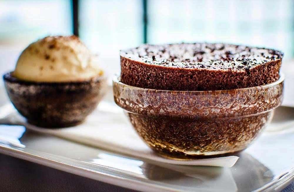Sheer Rocks chocolate souffle
