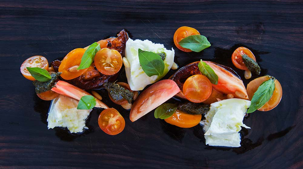 Sheer Rocks marinated heirloom tomato salad