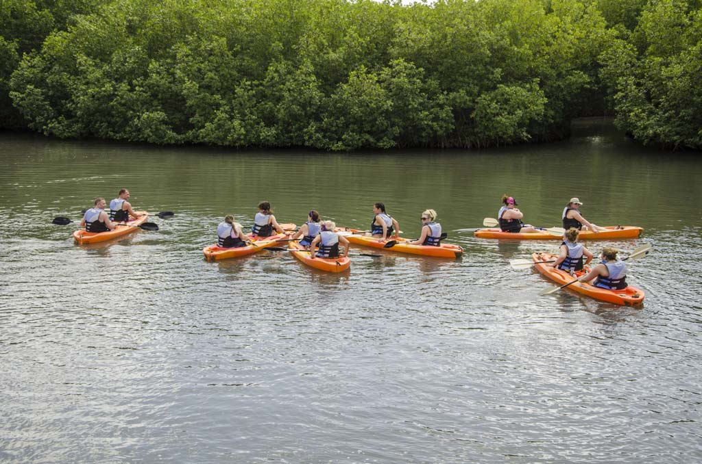 South Coast Horizons rafting tour group