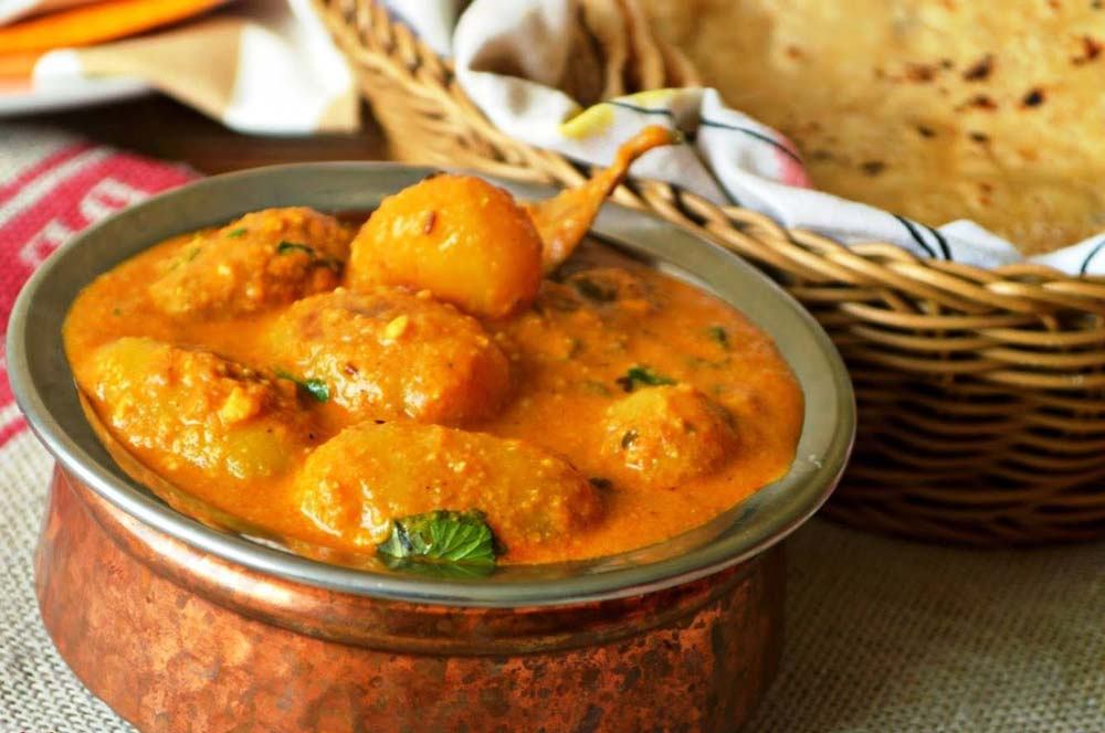 Spices of India dum aloo