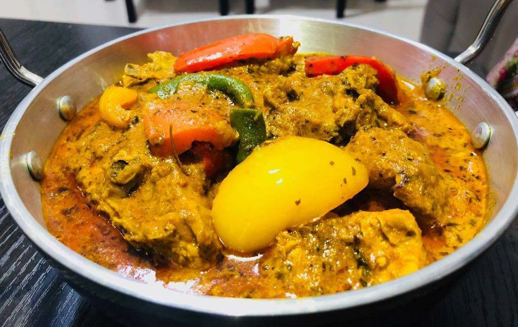 Spices of India curry chicken and methi