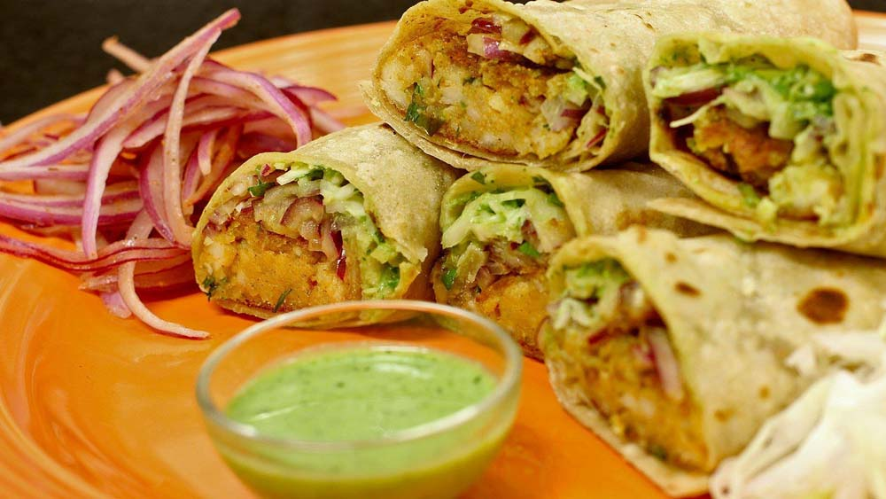 Spices of India curry wraps