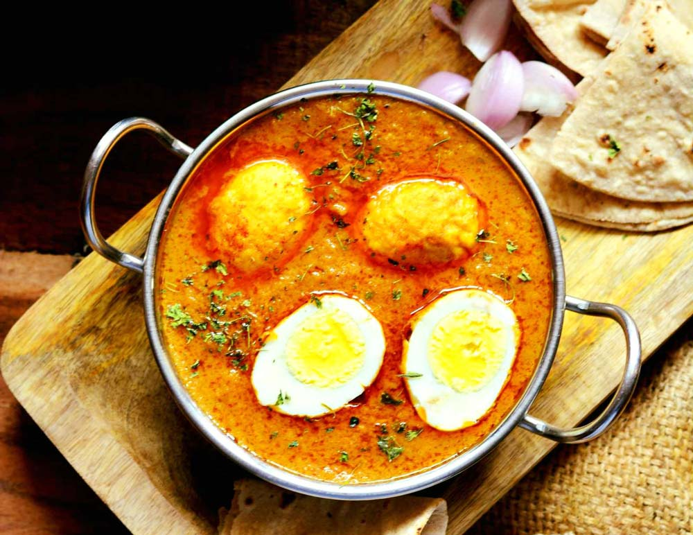 Spices of India egg curry