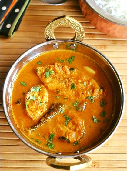 Spices of India fish goa curry