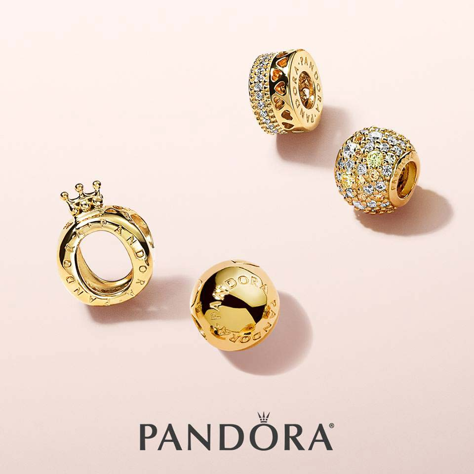 Sterlings Pandora gold charms