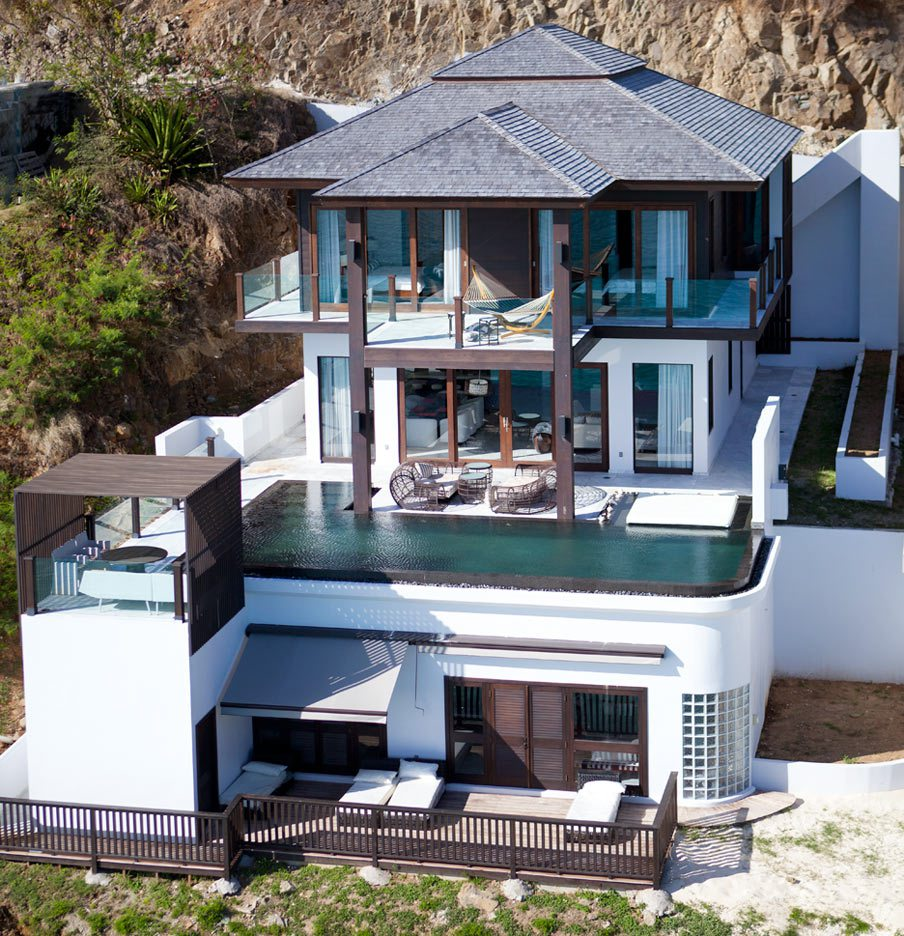 Tamarind Hills Antigua aerial view of villa