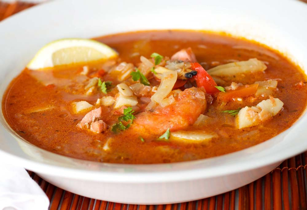 Treasure Island Cruises seafood soup