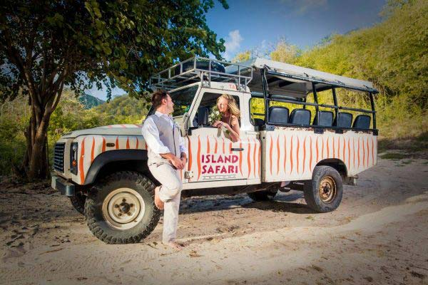 Tropical Adventures Island Safari wedding