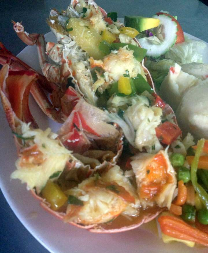 Turners Beach Bar lobster