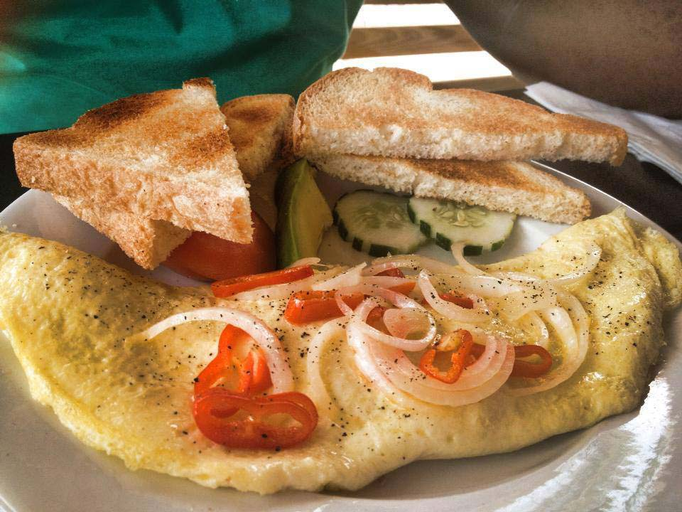 Turners Beach Bar omelette