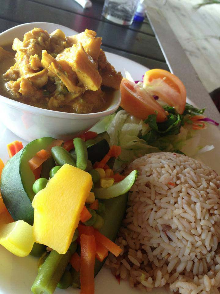 Turners Beach Bar curry conch and rice
