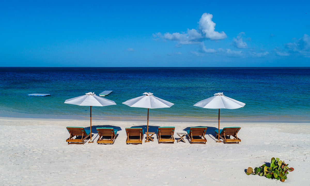 Barbuda beach chairs